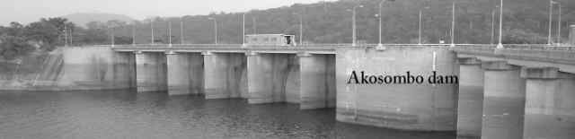 Picture Akosombo Dam, view to the dam - 1970`s