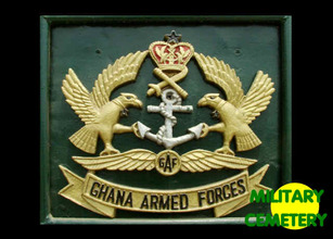Ghana Armed Forces, Military Cemetery, Coat of Arms at entrance, GAF, Ghana Armed Forces