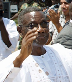 Picture of John Evan Atta Mills, president of Ghana