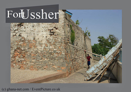 Old Ussher Fort - wall, front view from outside